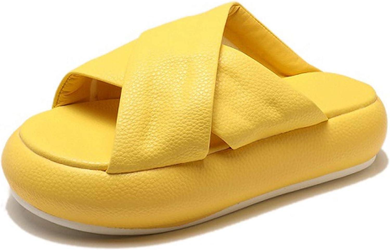 Flip Flop Middle Heels Platform Women Slippers Leisure Thic,