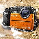 Panasonic DC-TS7D Lumix TS7 Waterproof Tough Camera, 20.4 Megapixels, 4.6X Zoom Lens, USA, with 3' LCD, Orange