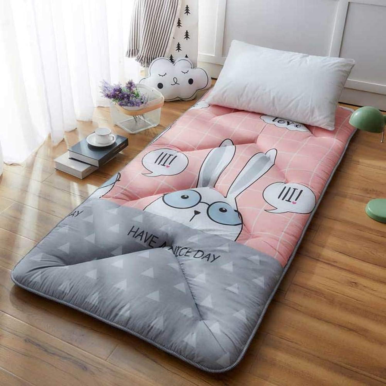 Padded Warm Mattress,Tatami Floor mattres Sleeping mat Student Dormitory Single Sponge pad Cotton-Padded Mattress Soft Mattress-F W90xH190cm(35x75inch)