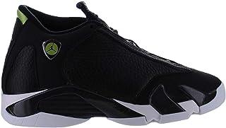 Jordan Retro 14Indiglo Black/Black-White-Vivid Green (Big Kid) (US 4y)