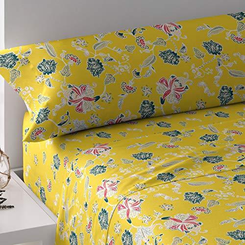 PimpamTex - Sängkläder set för säng – (Bett 90 cm, Maria Senfgelb)