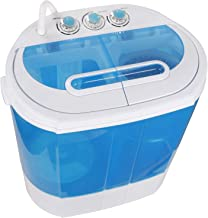 ZENSTYLE Portable Mini Twin Tub Washing Machine - Compact 2-In-1 Design 10 LBS Top Load Washer/Spin Cycle Dryer w/ 2 Meter Inlet Hose for Dorm, College Room, Apartment, RV's, Camping, Traveling