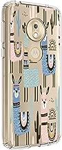 Moto G7 Play Case, Animal Cartoon Llama Pattern Printed Design Transparent Protection Crystal Bumper TPU Body for Motorola Moto G7 Play (Cactus)