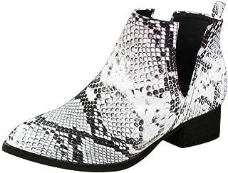 Bottine Femmes Talons - SANFASHION Bottes a Talon Automne,Chaussures Chelsea Boots Mode Cheville Mocassins Unies Simples B...