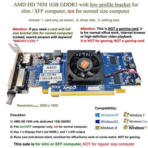 AMD Radeon HD 74501GB Grafikkarte–bd3a75* * * verwendet * * *