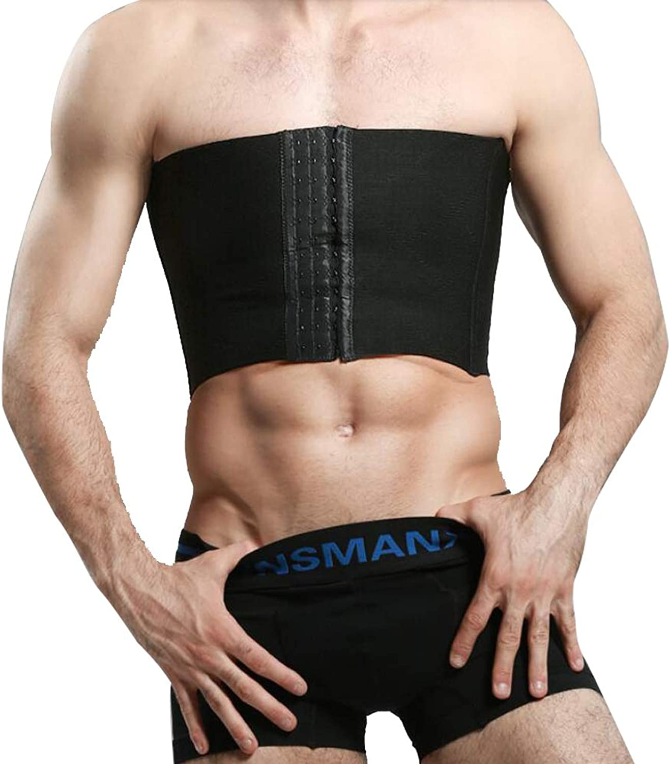 Men's Hide Gynecomastia Moobs Compression Shirt Corsets Strapless Provides Back Support,M