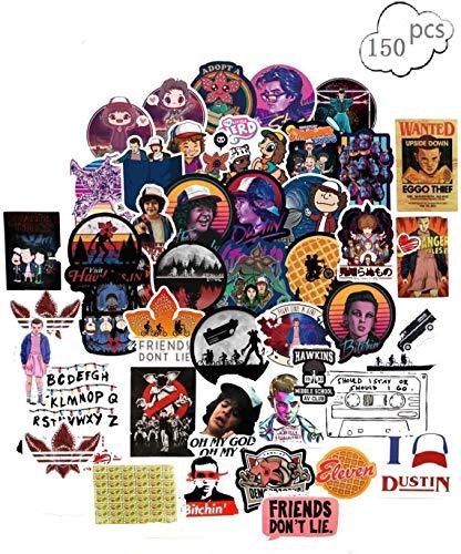 Laptop Aufkleber 68Pcs Strangers, Wasserdicht Vinyl Stickers Graffiti Style Decals für Auto/Motorräder/Fahrrad/Snowboard/Gepäck/Laptop