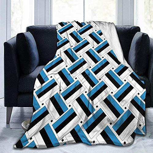 YuLiZP Decke Wohn Kuscheldecken Estland Flagge Flauschige Decke Ganzjährig Leicht Und Weich Bequeme Wohnkultur Decke Bett Sofa Stuhl Geeignet Für Erwachsene Und Kinder-80X60 Inch