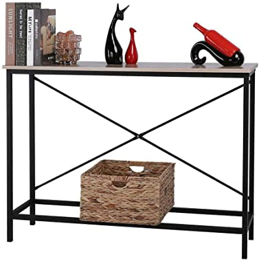 380Lbs Sturdy Construction & Easy to Assemble Wood Console Table Modern Sofa Accent with Shelf Stand Entryway Hall Furniture