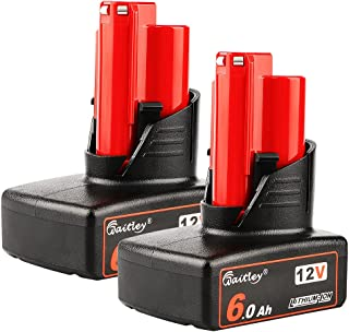 Sponsored Ad – Power Elektro 2 Pack M12 12V 6.0Ah Replacement Battery Compatible with Milwaukee M12 Lithium-ion Battery 4...