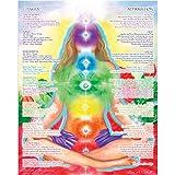 reiki hand position chart - 16 x 20 Chakra Chart Poster - Chakra Girl - The Path of Transformation, Chakra Yoga, Spiritual Artwork, Reiki, Energy Healing Meditation Art