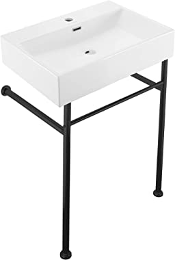 """Swiss Madison Well Made Forever SM-CS771 Claire 24"""" Console Sink, Glossy White"""