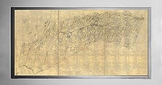 1893年カリフォルニア地図 郡、主要都市、町、川の名前を表示 1989年 スティーブンソンの南北戦争地図のタイトル、日付、スケール