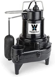 WaterAce WA50SASW Sewage Pump, Black