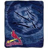 NORTHWEST MLB St. Louis Cardinals Raschel Throw Blanket, 50' x 60', Retro