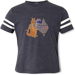 True Blue Aussie Roo Crewneck Boys-Girls Cotton/Polyester Football T-Shirt