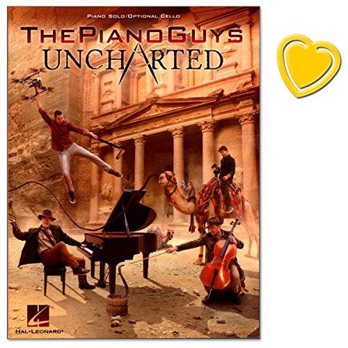 The Piano Guys Uncharted - voor piano en cello - sixth studio album - nummer 1 in de Amerikaanse klassieke charts in 2016 - met kleurrijke hartvormige muziekklem