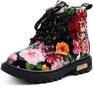 Toddler Girls Waterproof Shoes Floral Martin Boots Hiking Climbing Outdoor Shoes