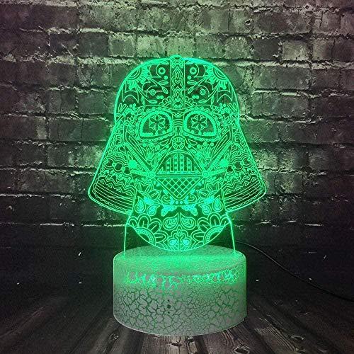 Tatapai 3D Illusion Lamp Led Night Light Star Wars Darth Vader K Cartoon Child Mood 7 Color Change Christmas Gift for Boy Friend Toy Luminaria