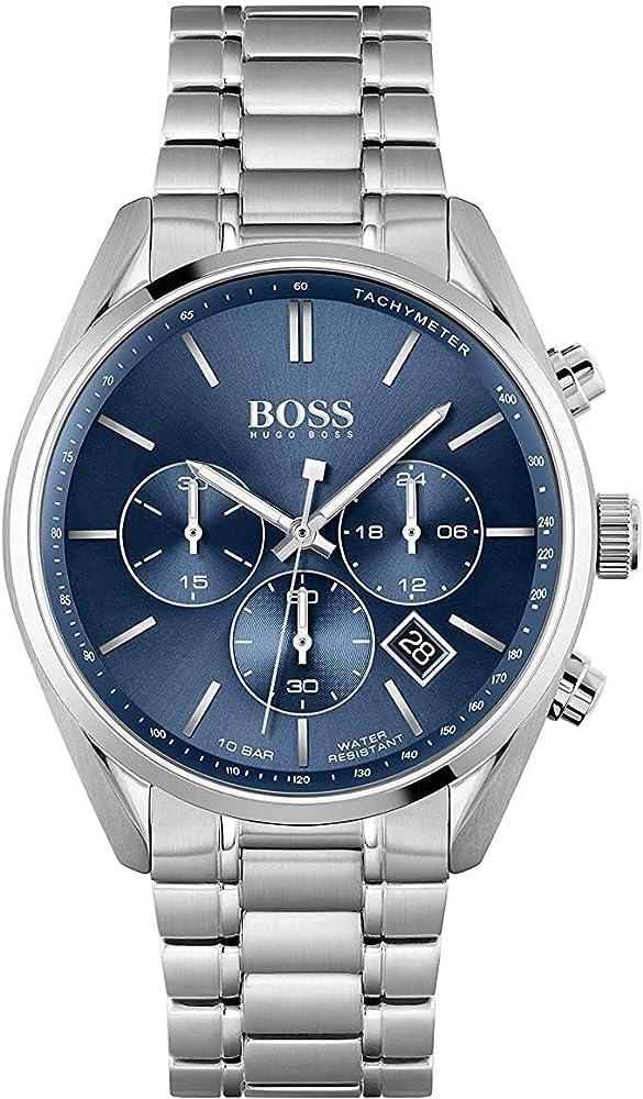 Hugo boss,orologio,cronografo per uomo,in acciaio inossidabgile 1513818