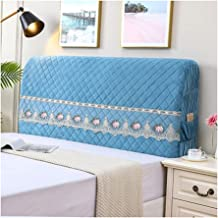 Headboard Cover Stretch Bed Headboard Slipcover Protector for Bedroom Decor Washable Furniture Slipcover (Color : Blue, Si...