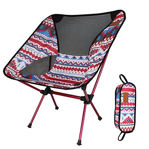 Unbekannt Outdoor Camping Klappstuhl Portable Picknick BBQ Strand Angeln Stuhl Mit Tragetasche (Rot)