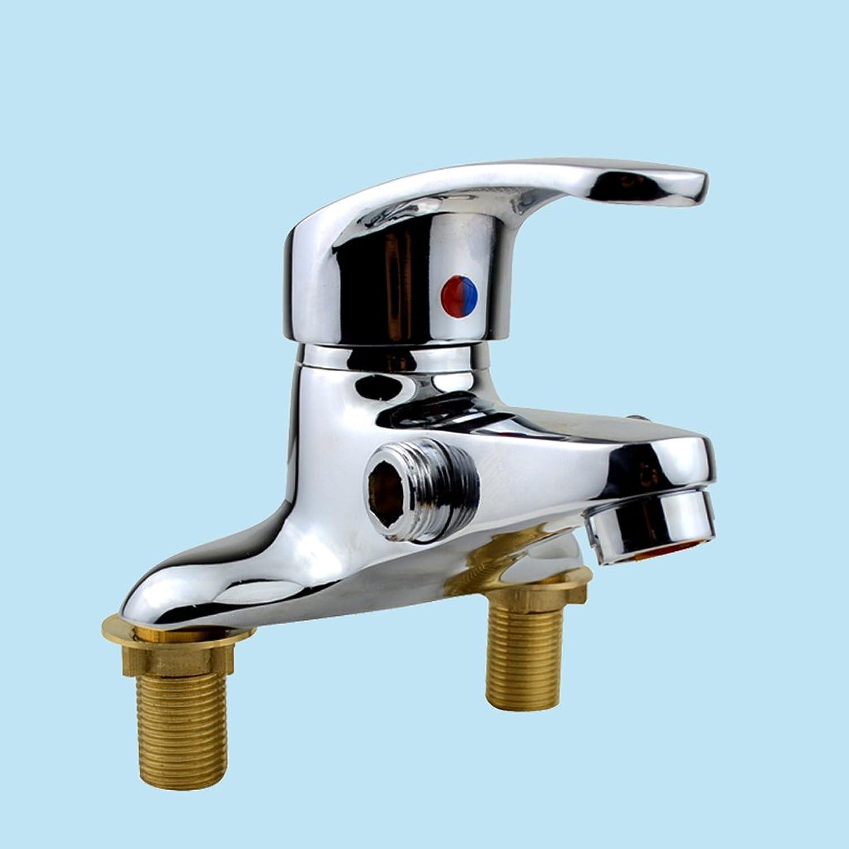 Ceramic valve faucet, full copper kitchen faucet, single handle hot and cold double hole, sink faucet, stainless steel basin faucet, advanced lead-free faucet, bathroom accessories, suitable for public places.
