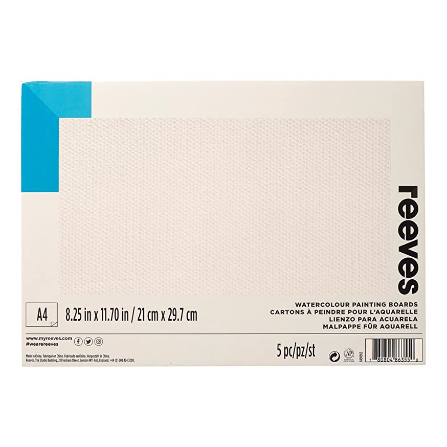 Reeves Water-Colour Paint Board, A4 - Pack of 5