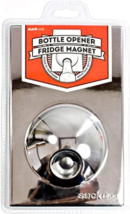 SUCK UK Bottle Opener Fridge Magnet - Chrome