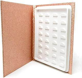 16 Pair Eyelash Storage Book,Makeup Display Sample Container,Eyelash Catalog Travel Glitter Paper