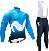 Cycling Jerseys Men's Long Sleeve and Bib Pants Set Bicycle Jersey Winter Thermal Fleece Breathable Jersey V290