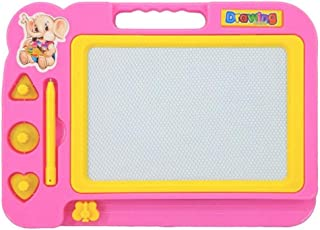 Kid Magnetic Drawing Graffiti Board Developmental Intelligence Toy for Kids Puzzle Educational Learning Toy Growing Experiment Gift Toy Pretend Toy Toddlers Toy (Pink)