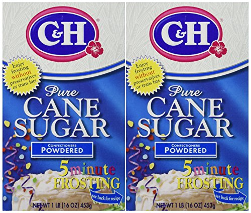 C&H Pure Cane Sugar CONFECTIONERS POWDERED 16oz (2 Pack)