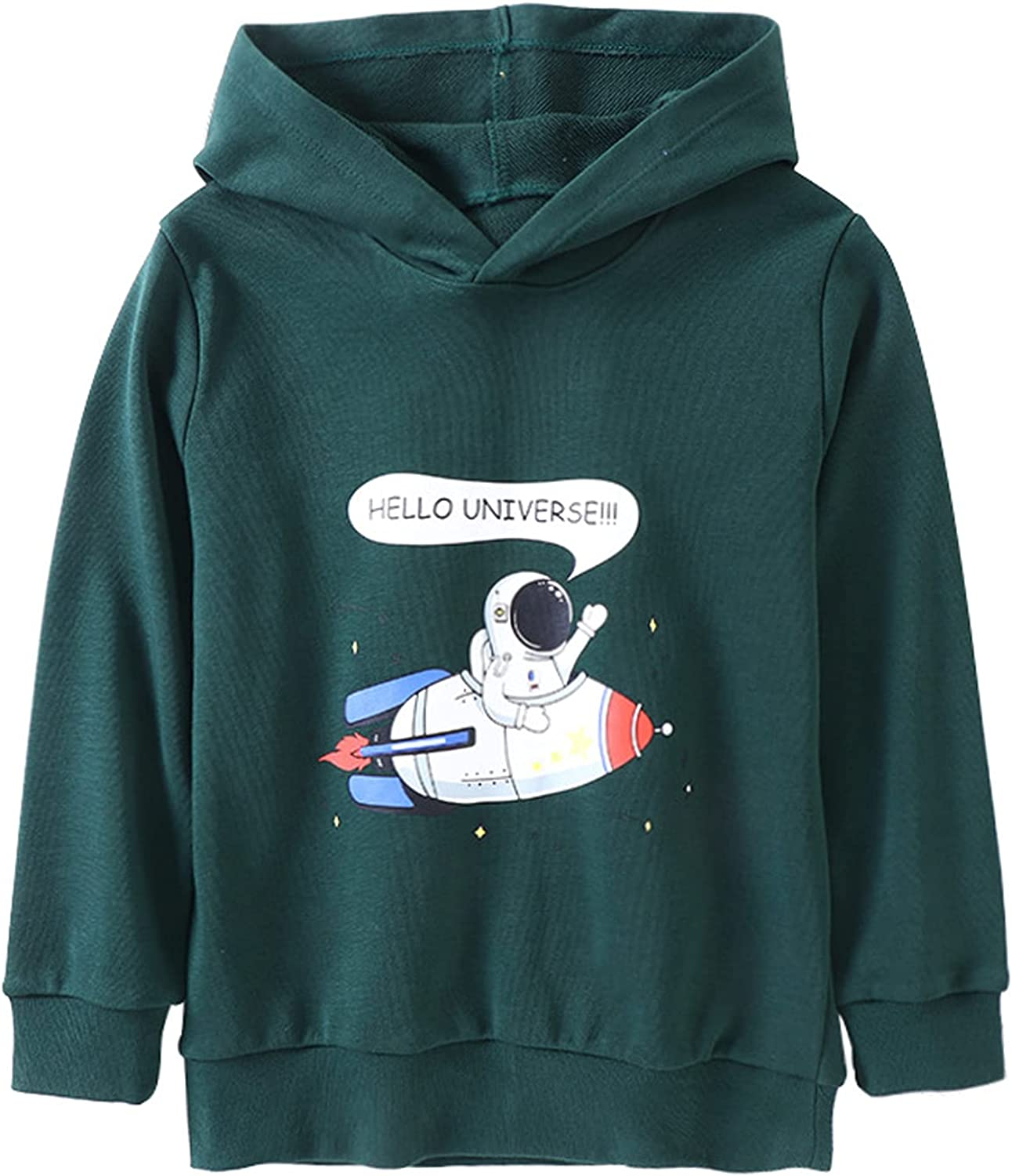 BonjourMrsMr Unisex Boys Sweatshirt Cotton Hoodie Sweater Casual Long Sleeve Pullover for Toddler