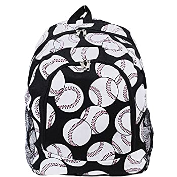 Baseball Print NGIL Canvas School Backpack