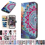 LA-Otter Huawei P8 Lite 2017 Case Mandala Leather Case