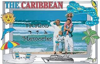 Rockin Gear Picture Frame Caribbean Islands Heavy Pewter 4