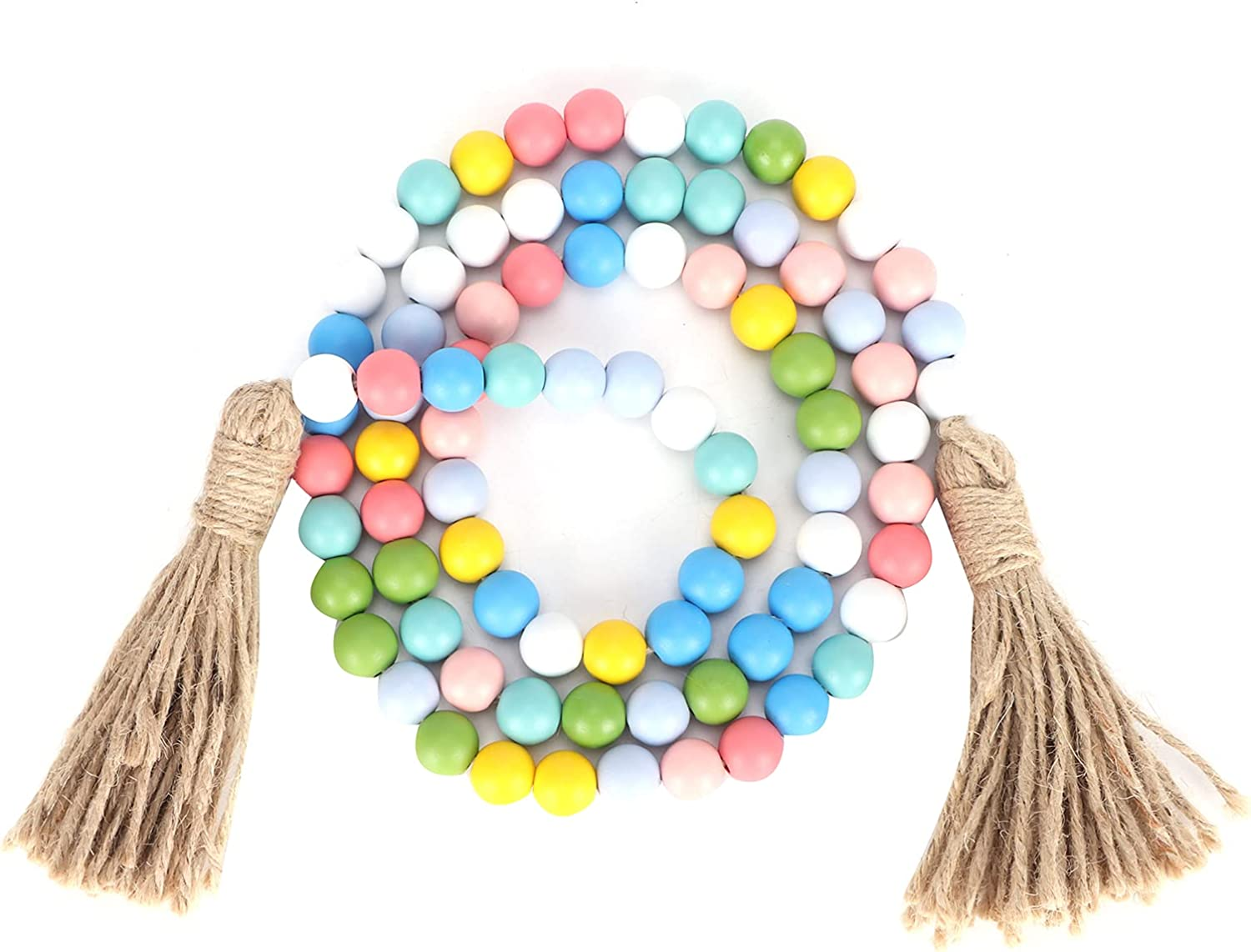 Bead Garland Farmhouse Easter Wood Sale Max 81% OFF Be Rustic Hand‑Made