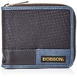 [ボブソン] 財布 異素材コンビ ラウンドファスナータイプ BO-AA013NT ブラック