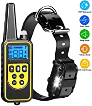 Mumoo Bear Dog Shock Training Collar with Remote 2500 ft - IPX7 Waterproof Rechargeable