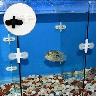 Separador de plástico con ventosa para acuario o pecera (5 unidades), color negro