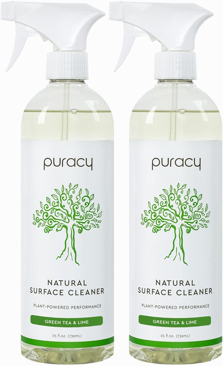Puracy Streak-Free Surface Cleaner, Natural Household Cleaning Spray for Stainless Steel, Glass, Granite, Floors, Cars, 25 Fl Oz (2-Pack) : Health & Household