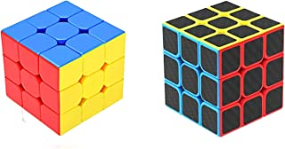 Emob High Speed Magic Combo Puzzle Brainstorming Game Toy (Carbon Fiber Sticker & Stickerlss 3x3)