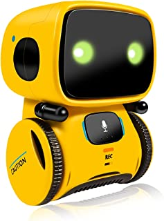 Robot Toy,Educational Stem Toys Robotics - Talking Interactive Voice Controlled Touch Sensor Smart Robotics with Dance, Sing, Speak Like You, Recorder, Touch Control, Voice Recording