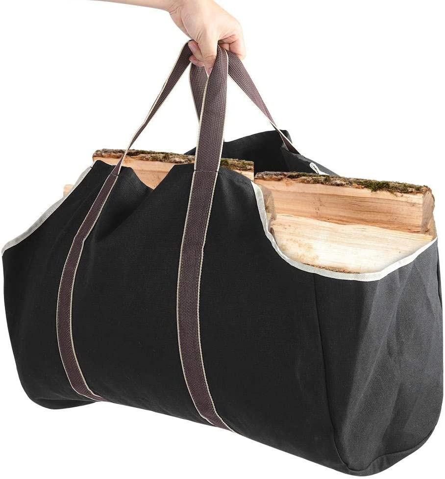 Large Canvas Direct Fees free!! stock discount Log Tote Bag Firewood Holder L Wood Carrier