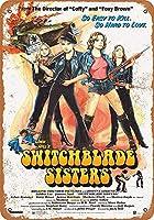 Switchblade Sistersムービー 金属板ブリキ看板警告サイン注意サイン表示パネル情報サイン金属安全サイン