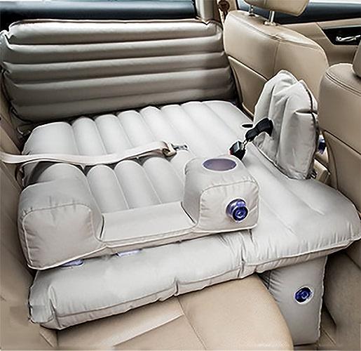 POTA Voiture Gonflable Lit Selle De Voiture Sedan SUV Conduite De Voiture Sleep Pad Voyage Lit pour Enfants avec Ceinture De Sécurité D'auto