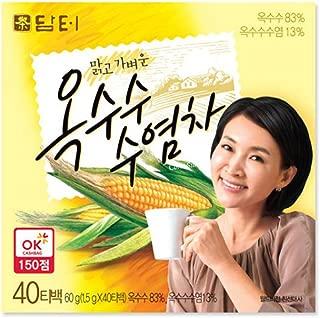 DAMTUH Korean Traditional Tea Corn Silk Tea - Caffeine-Free, 100% Pure Oriental Tea, 40 Bags