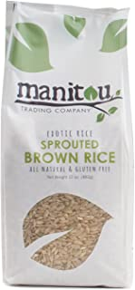 Manitou Trading Company Sprouted Brown Rice (Gaba), 17-Ounce, 2 Pack