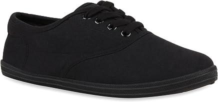 Stiefelparadies Damen Herren Unisex Sneaker Low Basic Flandell